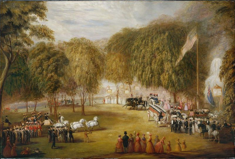 1851_RailroadJubileeOnBostonCommon_byWilliamSharp_MFABoston