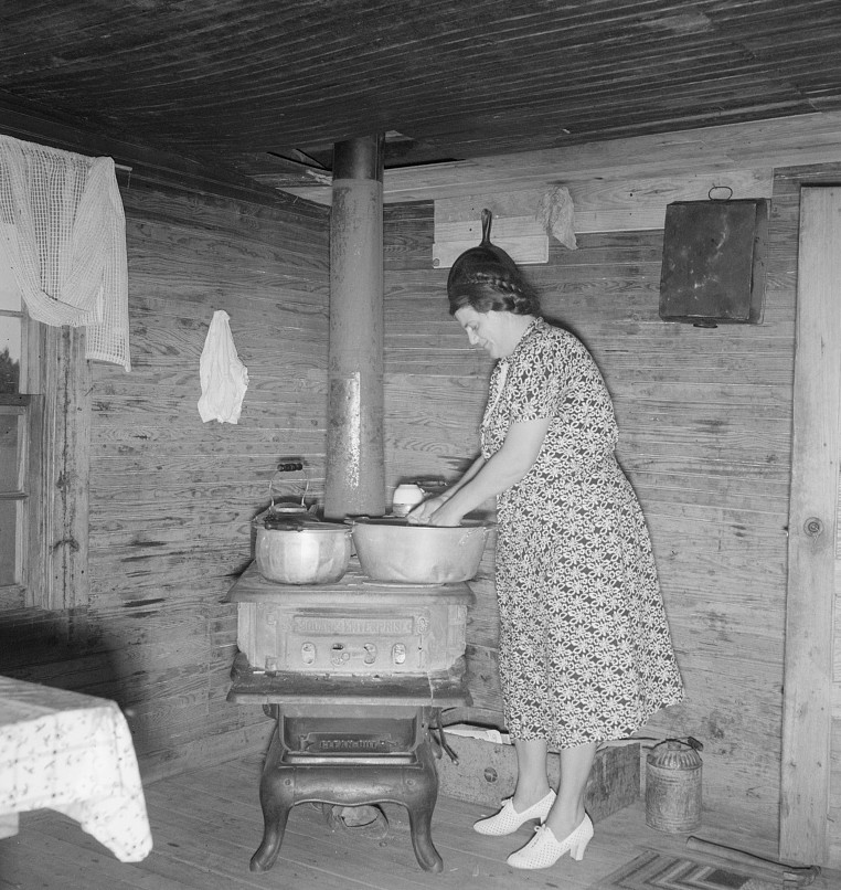 Corner of kitchen in tobacco sharecropper's home. Person County, North Carolina Dorothea Lange 1939