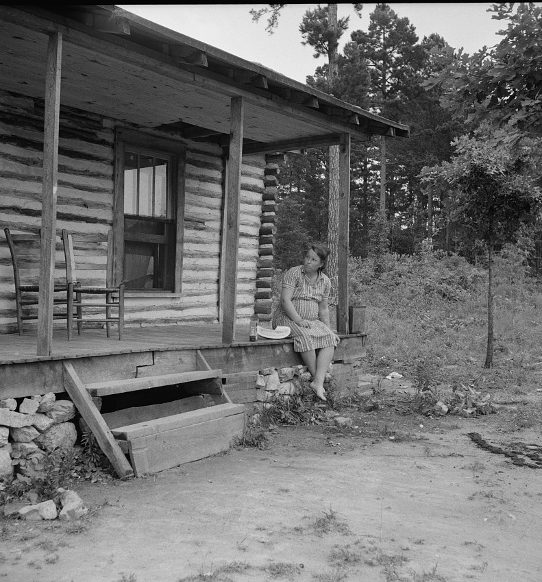Millworker's home six miles north of Roxboro, North Carolina. Person County, North Carolina July 1939 by Dorothea Lange