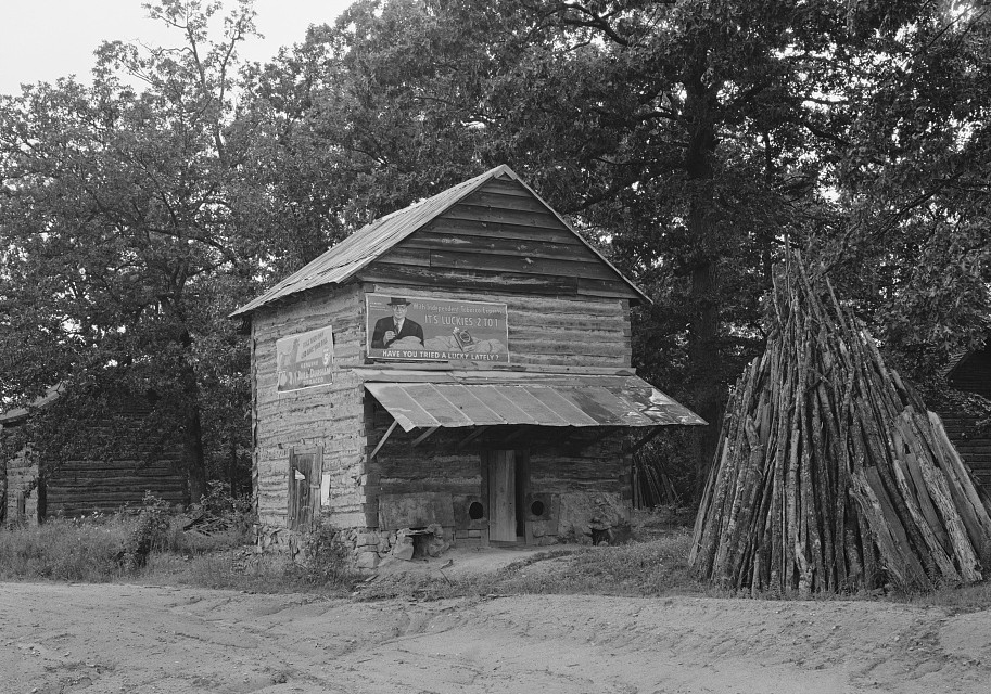 Tobacco barn North Carolina July 1939 by Dorothea Lange
