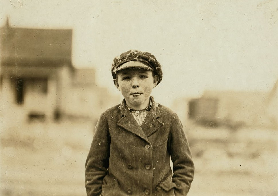 "Gastonia, N.C. Boy from Loray Mill. ""Been at it right smart two years."" Location: Gastonia, North Carolina. Photo by Lewis Hines October 1908"