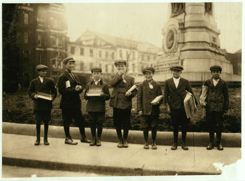 gum and paper vendors wash dc. april 1912