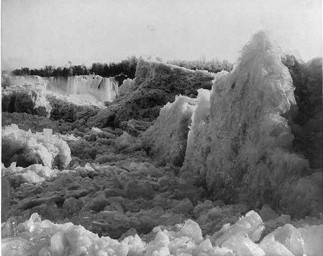 Ice Bridge photographed in 1883 be George Barker