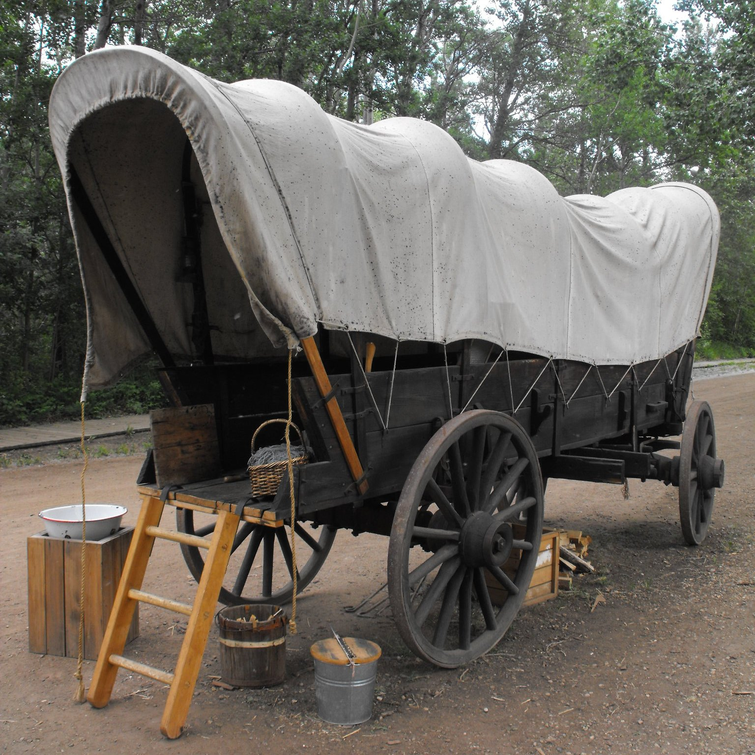 Moving in two covered wagons from Arkansas to Texas – Here ...