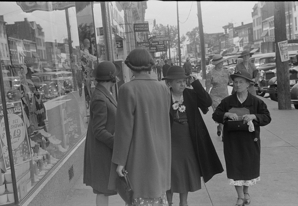 four women on street