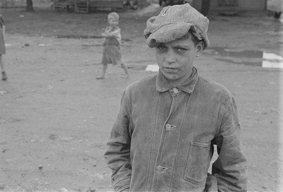 hooverville boy close up