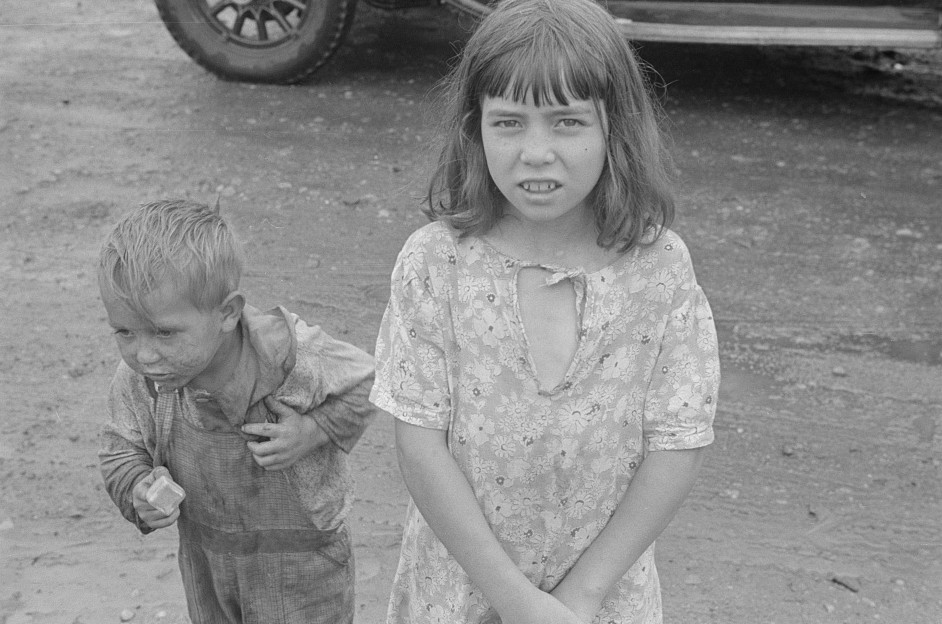 hooverville two children