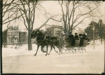 Film of 1898 sleigh ride in New York- exciting times
