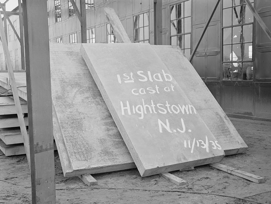 1st slab concrete 1935