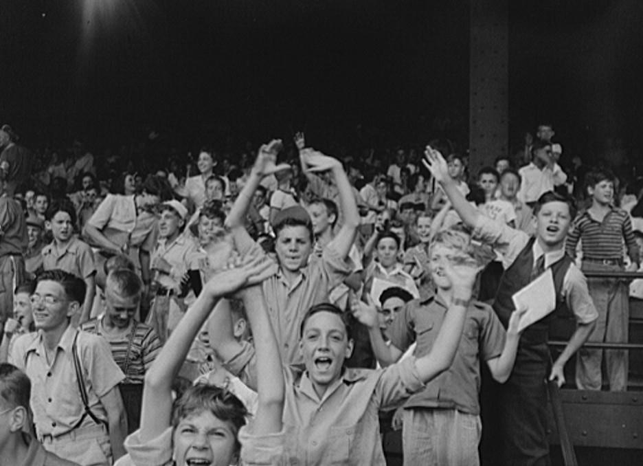 Detroit, Michigan. Kids at a ball game 1942