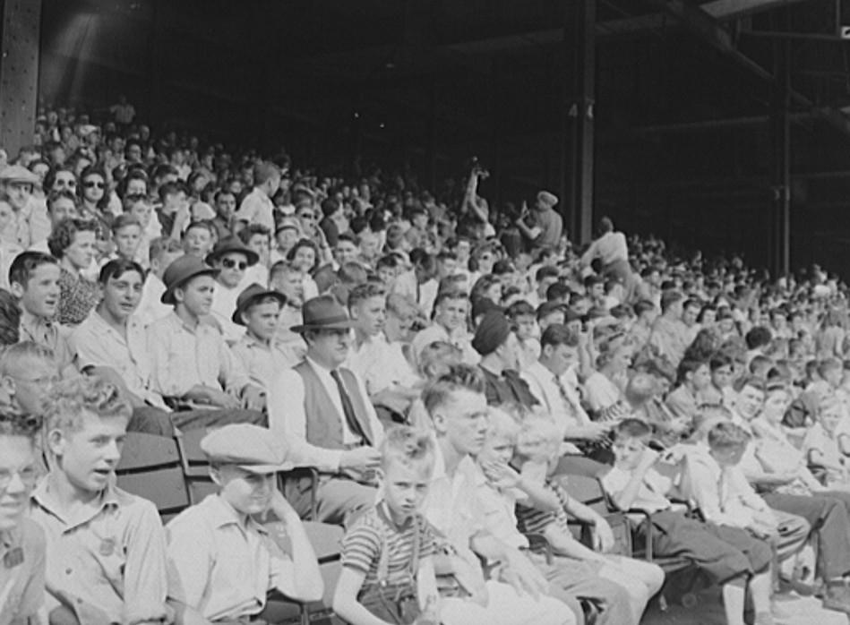 Detroit, Michigan. Kids at a ball game