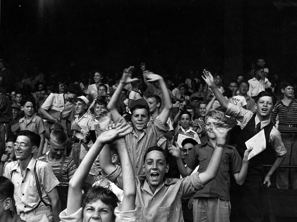 Detroit, Michigan. Kids at a ball game4