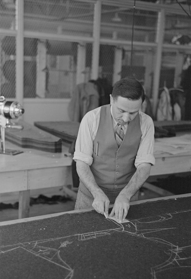 Garment worker at Hightstown factory, New Jersey nov. 1936 russ