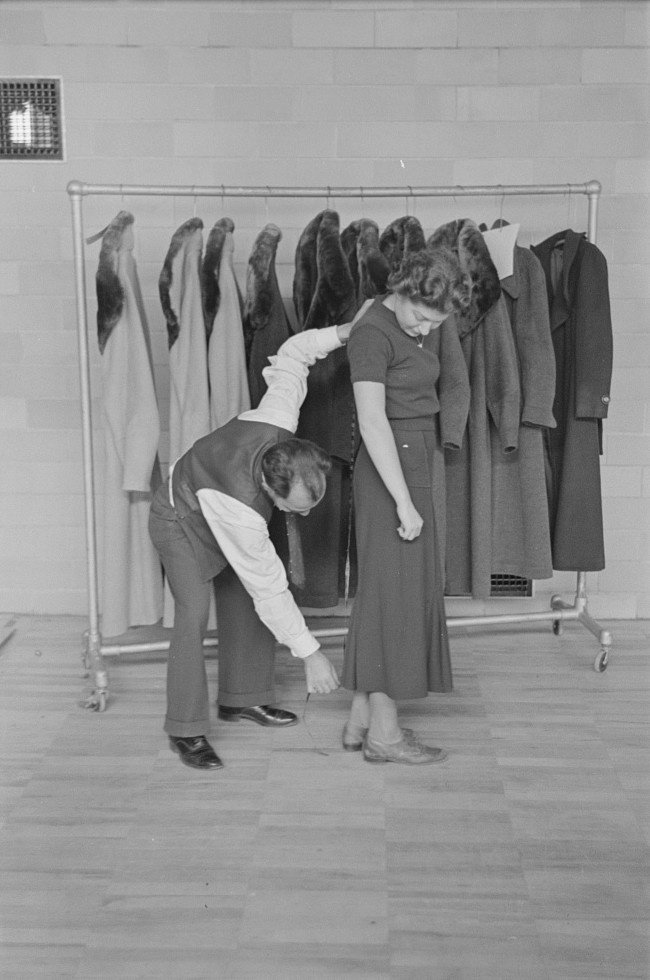 Garments manufactured by residents of Jersey Homesteads, Hightstown, New Jersey russell Lee Nov. 1936