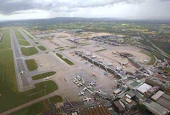 Gatwick airport from the air