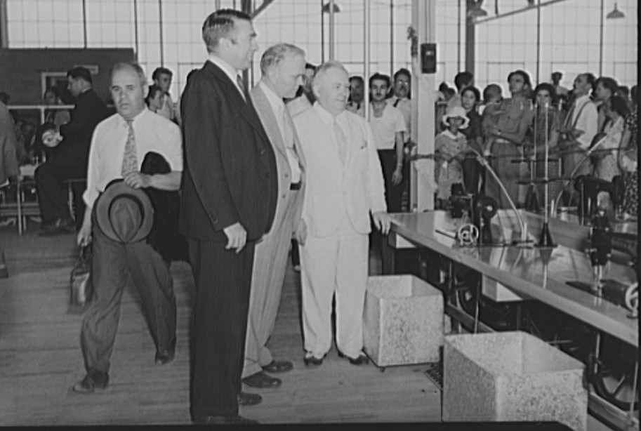 Opening of the garment factory. Hightstown, New Jersey aug 1936 carl mydans
