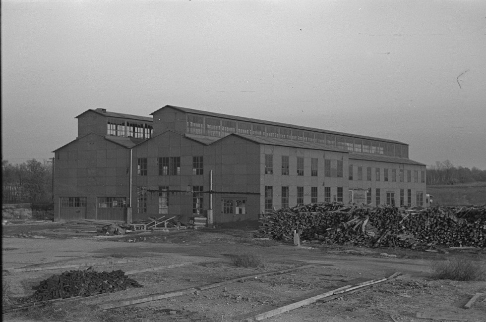 This building will house the new canning industry to be put into operation in 1937 at Jersey Homesteads, Hightstown, New Jersey 1936 russ