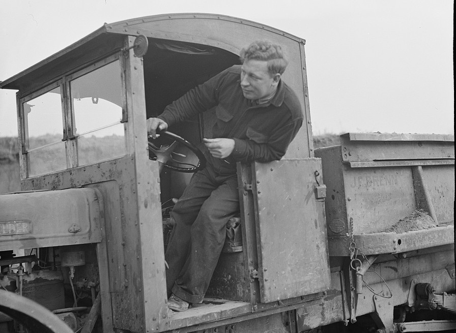 Truck driver at the Hightstown, New Jersey, project nov. 1935 carl mydans
