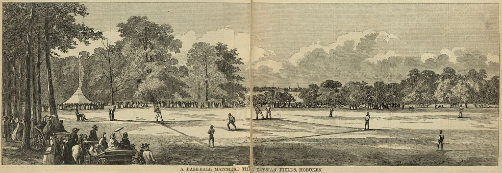 A baseball match at the Elysian Fields, Hoboken