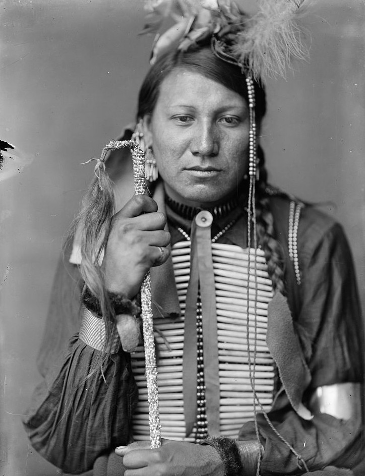 Amos Little, a Sioux Indian from Buffalo Bill's Wild West Show
