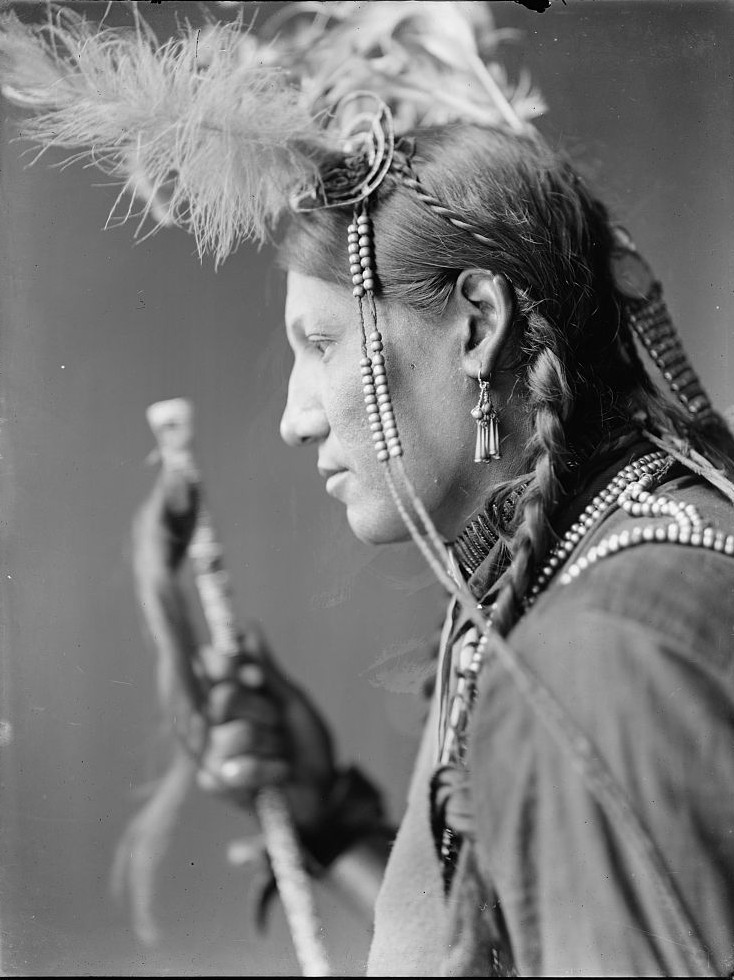 Amos Little, a Sioux Indian from Buffalo Bill's Wild West Show side