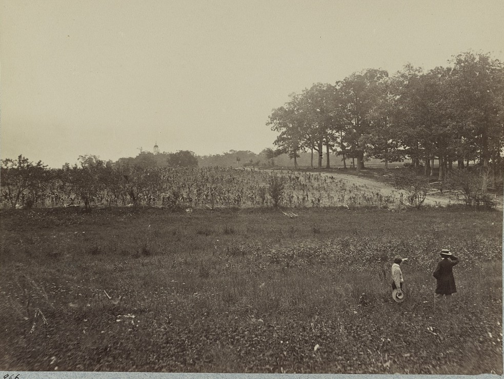 Battle-field of Gettysburg. Scene of General Reynold's death
