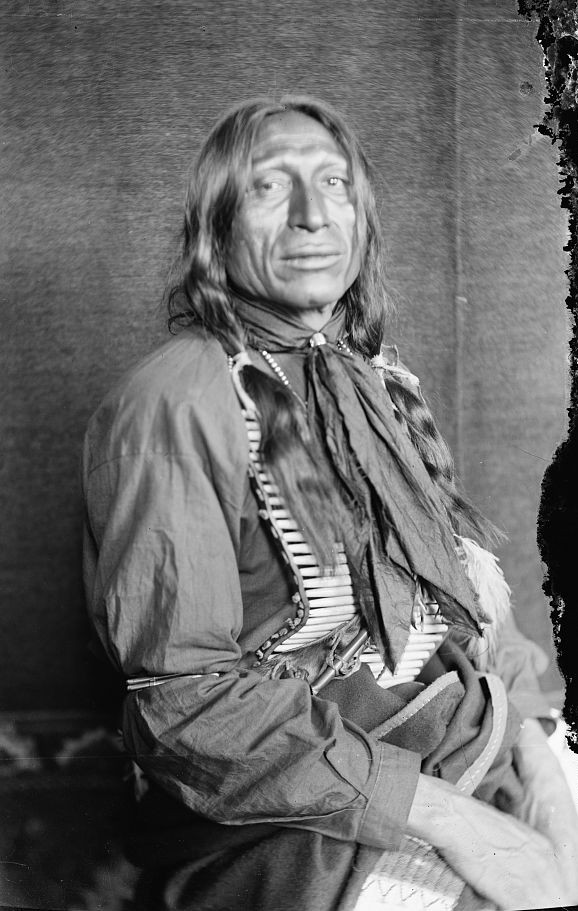 Chief Iron Tail, a Sioux Indian from Buffalo Bill's Wild West Showca. 1900
