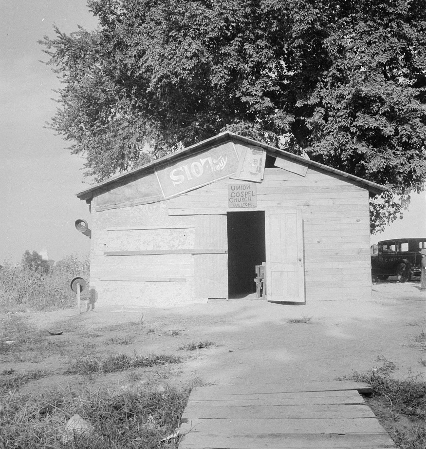 Church in Oklahoma County. Elm Grove, Oklahoma Aug. 1936