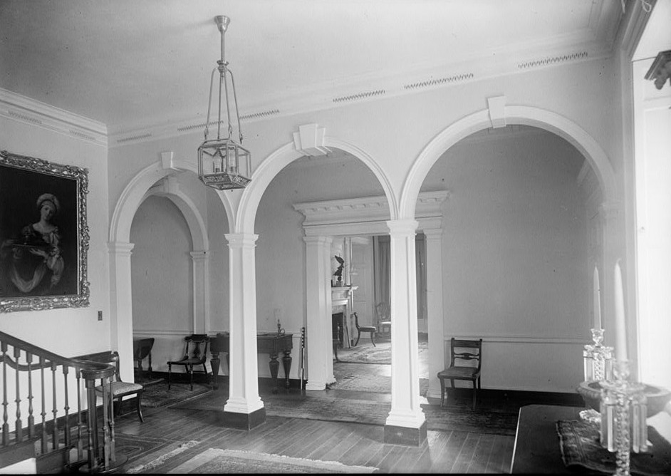 E. H. Pickering, Photographer October 1936 FIRST FLOOR STAIR HALL - Widehall, 101 Water (Front) Street, Chestertown, Kent County, MD