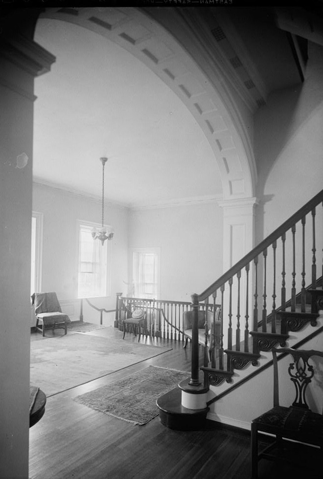 E. H. Pickering, Photographer October 1936 SECOND FLOOR HALL - Widehall, 101 Water (Front) Street, Chestertown, Kent County, MD