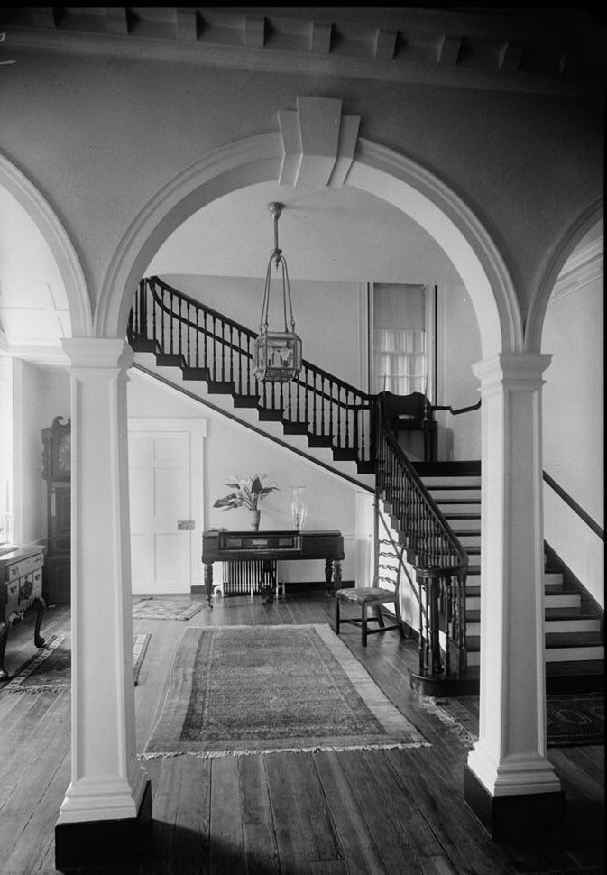 E. H. Pickering, Photographer October 1936 STAIR HALL FIRST FLOOR - Widehall, 101 Water (Front) Street, Chestertown, Kent County, MD