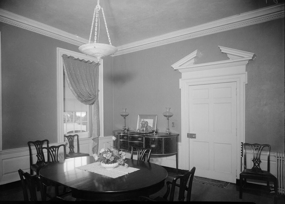 E. H. Pickering, Photographer October 1936 THE DINING ROOM - Widehall, 101 Water (Front) Street, Chestertown, Kent County, MD