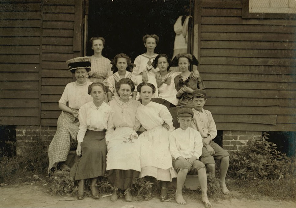 Group of workers at the Suffolk Va. Knitting Mills. Location Suffolk, Virginia June 1911