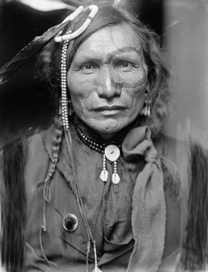 Iron White Man, a Sioux Indian from Buffalo Bill's Wild West Show ca. 1900 gertrude