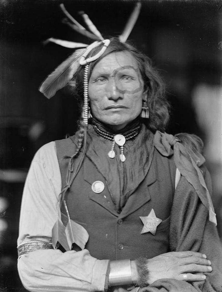 Iron white man portrait taken by photographer Gertrude Kasebier (1852-1934) around 1900