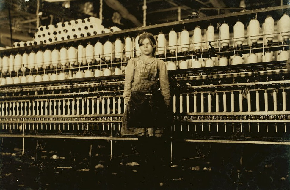 Mamie Witt. Runs one side in Roanoke Cotton Mills, Roanoke, Va. She is twelve years old and helps support an able-bodied, dependent father. May 1911