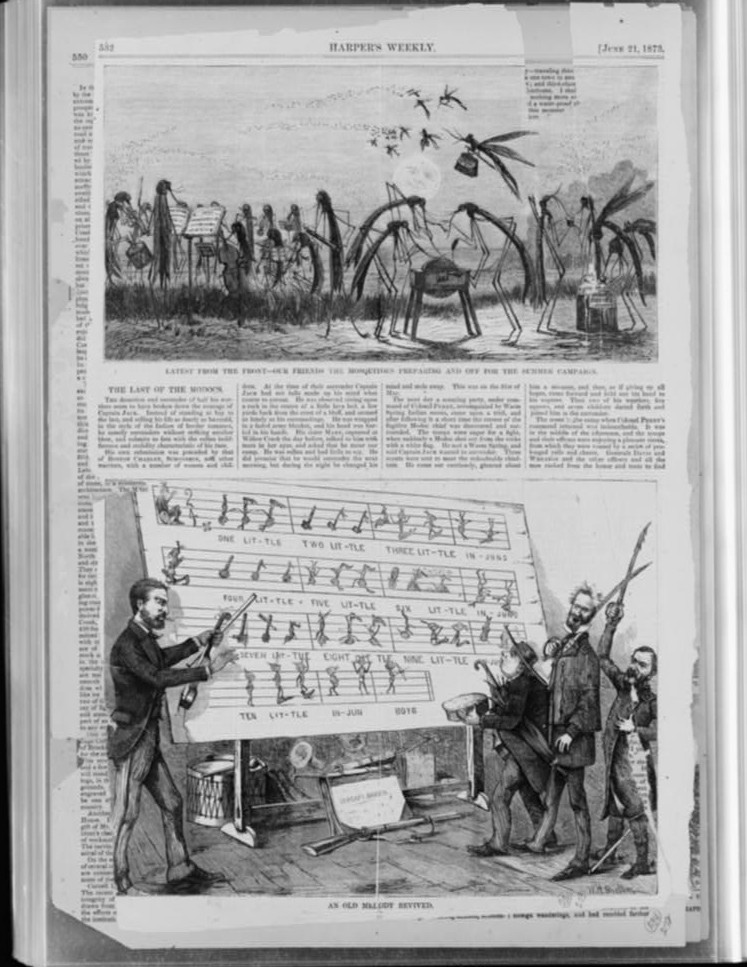 Mosquitoes singing 1873
