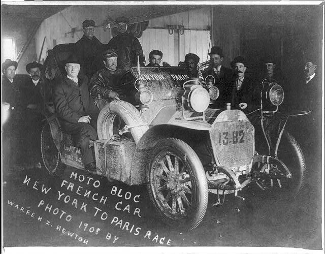 Moto Bloc French car New York to Paris race 1908
