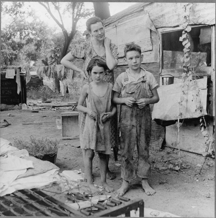 People living in miserable poverty, Elm Grove, Oklahoma County, Oklahoma3 Aug. 1936