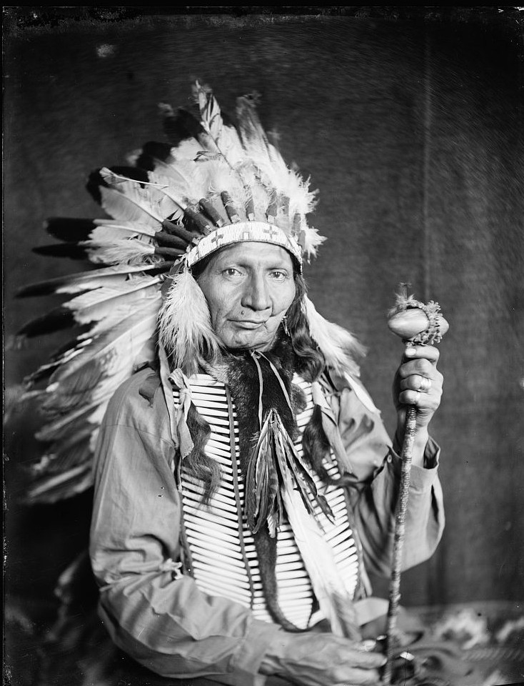 Red Horn Bull, a Sioux Indian from Buffalo Bill's Wild West Show