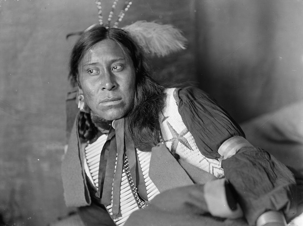 Sammy Lone Bear, a Sioux Indian from Buffalo Bill's Wild West Show ca. 1900 gertrude