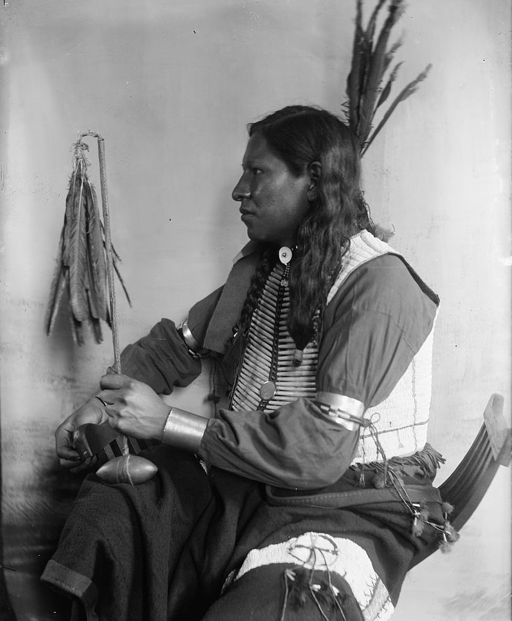 Shooting Pieces, a Sioux Indian from Buffalo Bill's Wild West Show