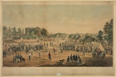 This may be the earliest film of a baseball game & baseball pictures before 1866