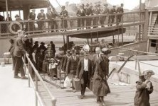 Hundreds of Immigrants arrive at Ellis Island in New York April 27, 1906