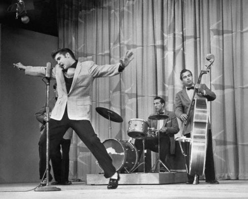 Elvis Presley Performing On Stage