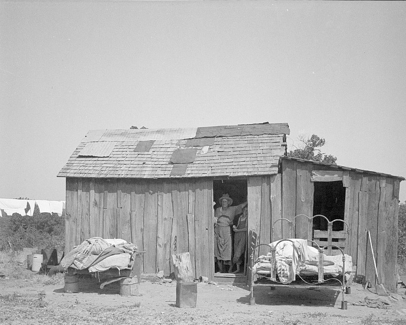 people living in miserable poverty. Elm Grove, Oklahoma County, Oklahoma Aug. 1936