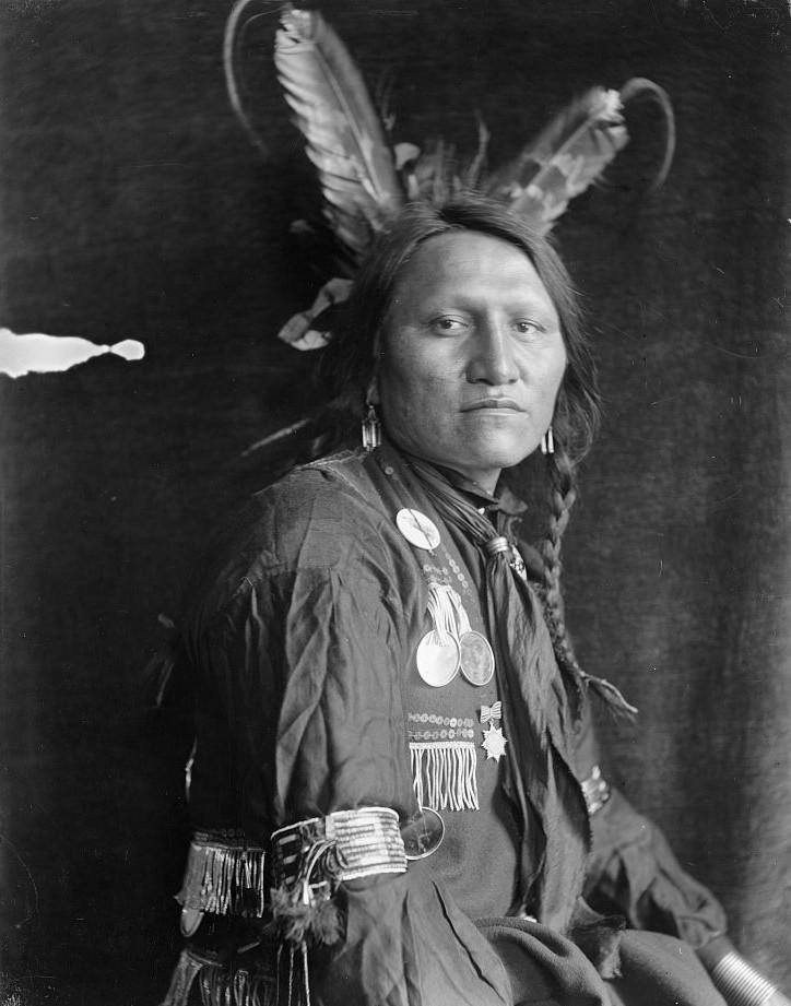 of Buffalo Bill's Wild West Show, taken by photographer Gertrude Kasebier (1852-1934) around 1900