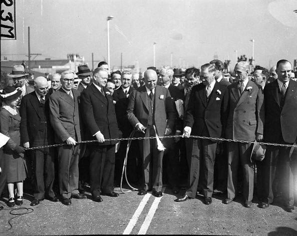 president herbert hoover opening of bridge
