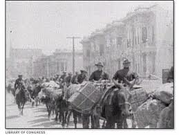 Help finally arrives as the Army rides into town after the earthquake