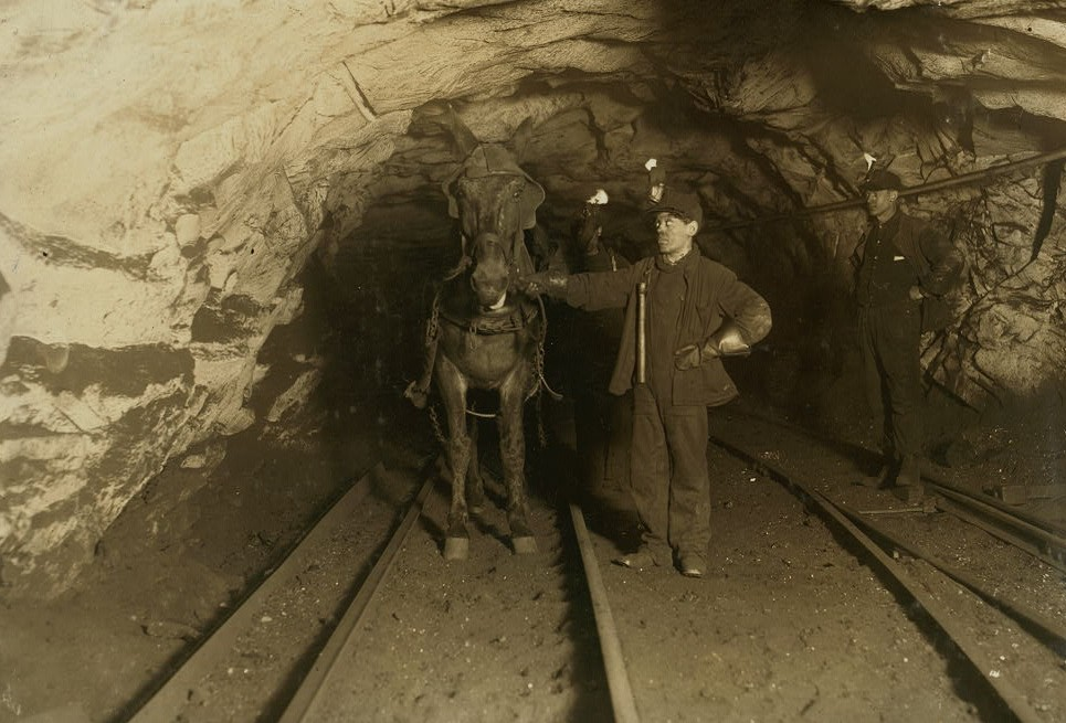 A young leader and a driver, Shaft 6, Pennsylvania Coal Company. Pasquale Salvo and Sandy Castina. Location Pittston, Pennsylvania.